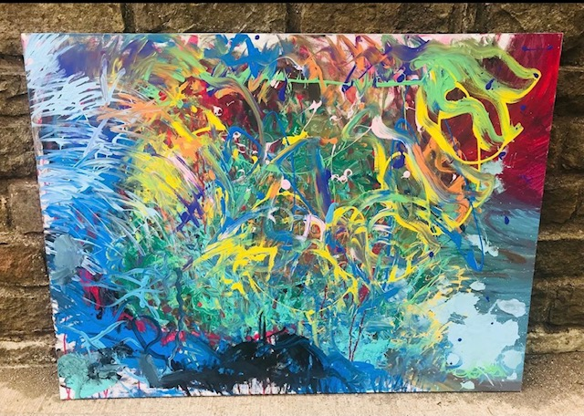 """Ready to Hang 3ft x 4ft Canvas Painting """"Comfort Zone"""""""